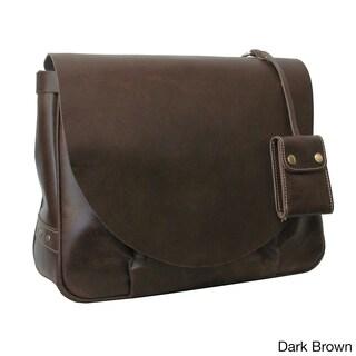 Amerileather Vintage Leather Messenger Bag (2 options available)