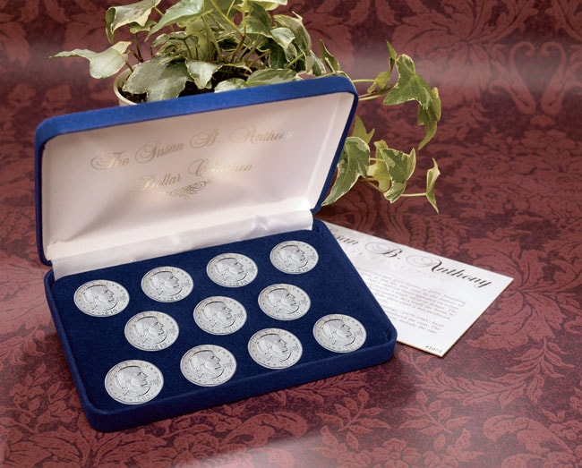 Display Case Susan B.Anthony Dollar Coin Collector Collection Uncirculated