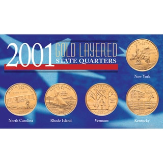 American Coin Treasures 2001 Gold-layered Statehood Quarters