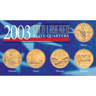 American Coin Treasures 2003 Gold-layered Statehood Quarters