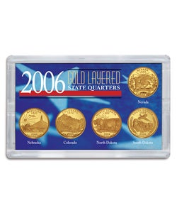 American Coin Treasures 2006 Gold-layered Statehood Quarters (Set of 5)