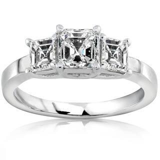 Annello by Kobelli 14k Gold 1ct TDW Asscher Diamond Engagement Ring|https://ak1.ostkcdn.com/images/products/2622919/P10828443.jpg?impolicy=medium