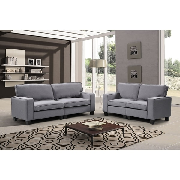 ab648d574f586 Shop Harper   Bright Designs 2 Piece Upholstered Sofa and Loveseat ...