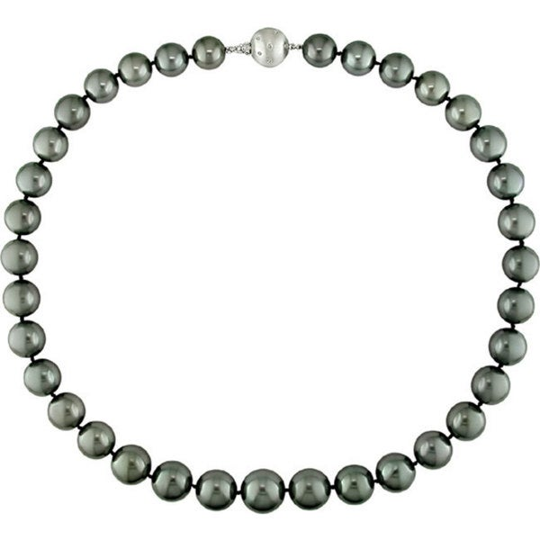 Miadora Signature Collection Cultured Tahitian Pearl Necklace (10-13 mm)