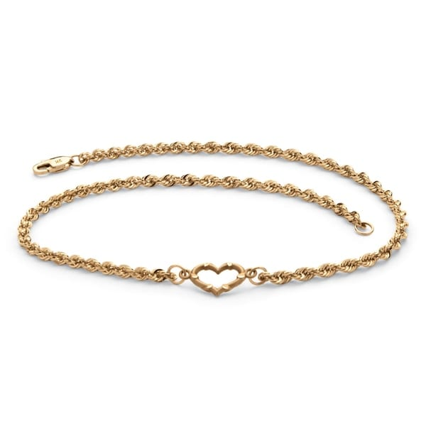 14k White Gold Classic Box Chain Ankle Bracelet