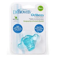 Dr. Brown's Orthees Transition Teether 3m+, BPA Free, Blue