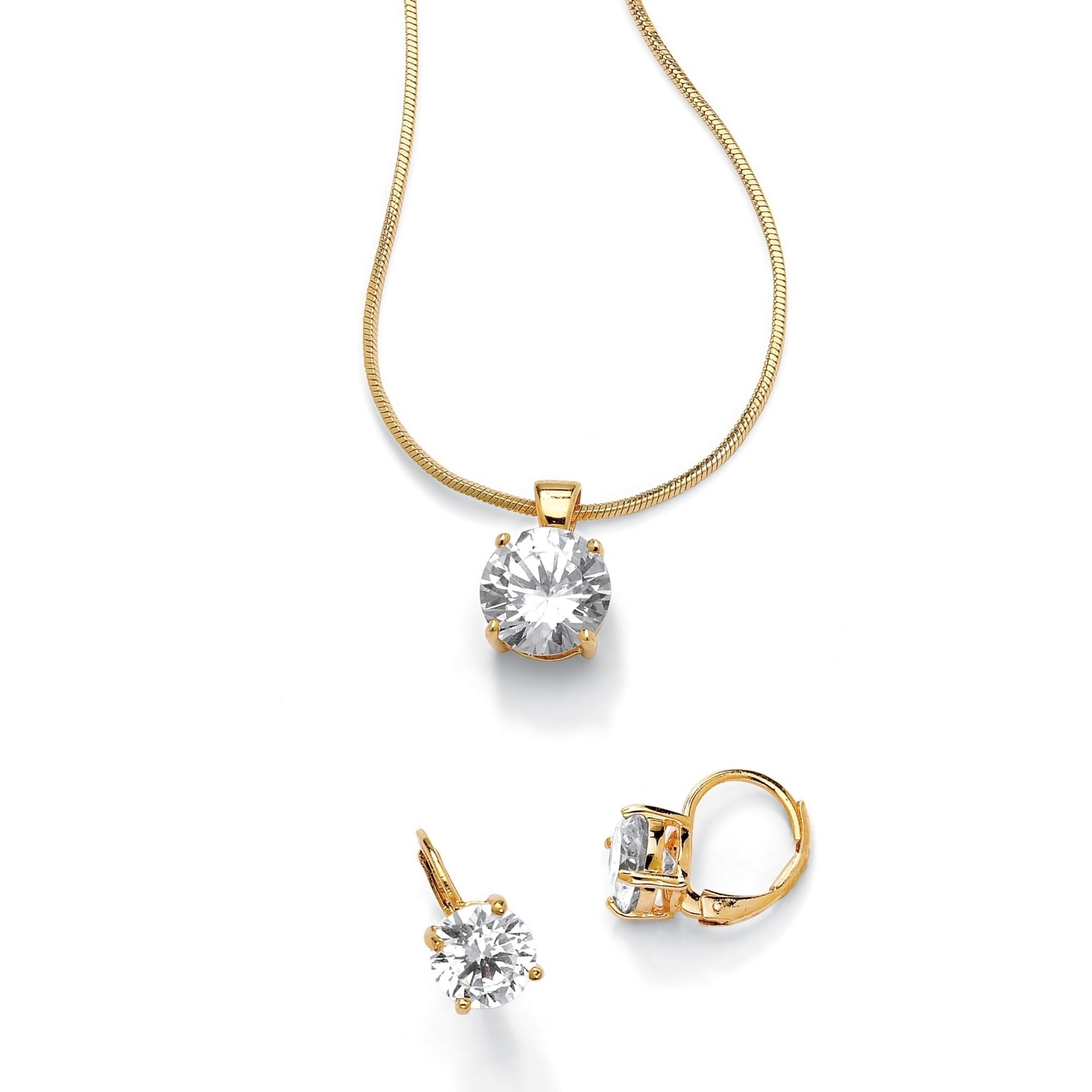 14k Yellow Gold Cubic Zirconia Bow Pendant mm Length