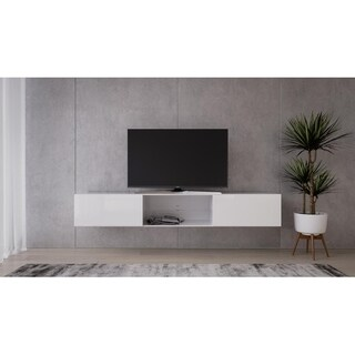 LIDO Glass TV Stand - N/A