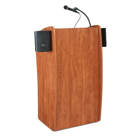 Oklahoma Sound Vision Lectern with Sound, Cherry