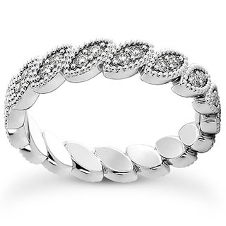 Bliss Platinum 1/3 Ct TDW Diamond Eternity Ring Womens Stackable Wedding Band