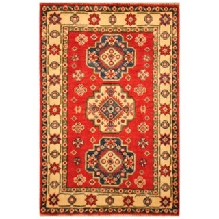 Handmade Kazak Wool Rug (Afghanistan) - 2'2 x 3'1
