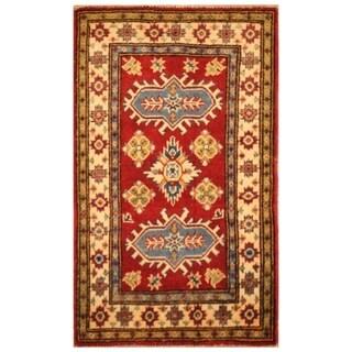 Handmade Kazak Wool Rug (Afghanistan) - 2' x 3'3