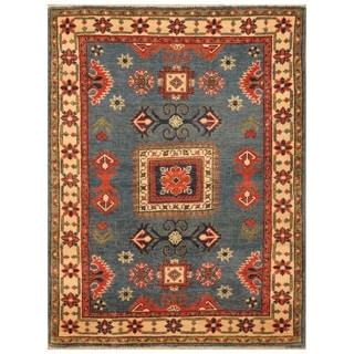 Handmade Kazak Wool Rug (Afghanistan) - 3' x 4'