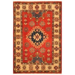 Handmade Kazak Wool Rug (Afghanistan) - 2' x 3'