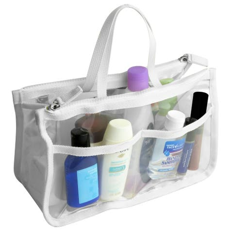 Evelots Clear Cosmetic Purse, Double Zipper Hand Pouch Bag In Bag Organizer