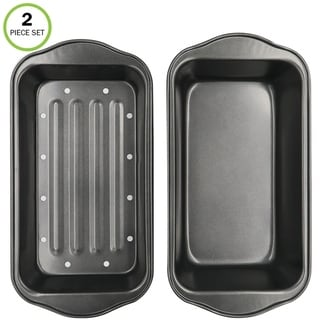 Link to Evelots Meatloaf Pan-Drains Fat-Non Stick-Bread Baking-More Flavor-2 Piece Set Similar Items in Bakeware