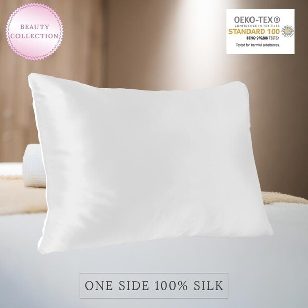 Shop Myk Pure 22 Momme One Side Mulberry Silk Pillowcase