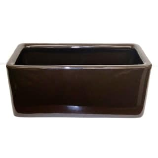 Solid Brown Rectangle Planter