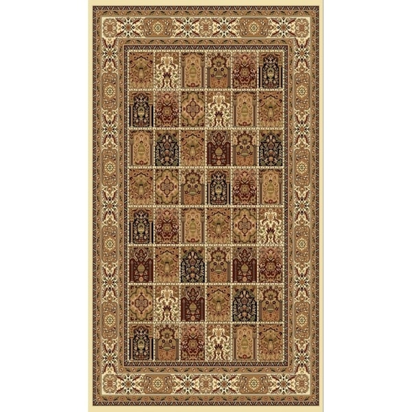 """Ivory Traditional Rugs 5x8 - 5'4"""" x 7'5"""""""
