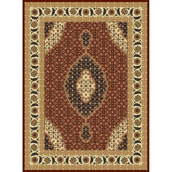 "Traditional Rugs 5x8 Burgundy - 5'4"" x 7'5"""