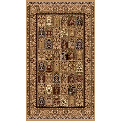 """Beige Traditional Rugs 5x8 - 5'4"""" x 7'5"""""""