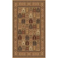 "Beige Traditional Rugs 5x8 - 5'4"" x 7'5"""