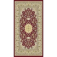 "Burgundy Traditional Rugs 5x8 - 5'4"" x 7'5"""