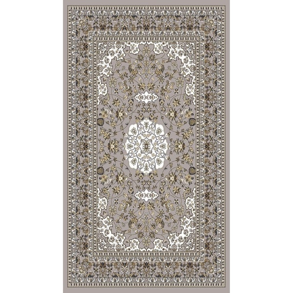 """Gray Traditional Rugs 5x8 - 5'4"""" x 7'5"""""""