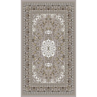 "Gray Traditional Rugs 5x8 - 5'4"" x 7'5"""
