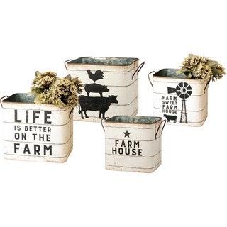 Tin Buckets - Farm House / Farm Sweet Farm House
