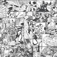 Marvel Comic Book Wallpaper 20.5 in. x 33 ft.  56sq.ft