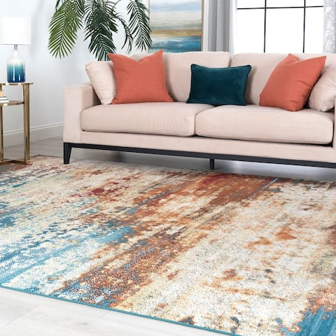 Porch & Den Waddell Contemporary Abstract Area Rug