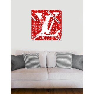 Oliver Gal 'Red Tag Urban' Fashion and Glam Wall Art Canvas Print - Red