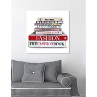 Oliver Gal 'Doll Memories - Glam Library' Fashion and Glam Wall Art Canvas Print - Red