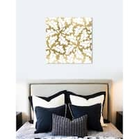 Oliver Gal 'Golden Leaf Fall' Floral and Botanical Wall Art Canvas Print - Gold
