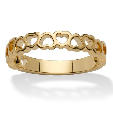 Yellow Gold-Plated Heart Ring (2.5mm)