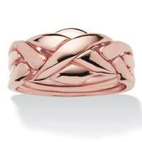 Rose Gold-Plated Commitment Symbol Puzzle Ring