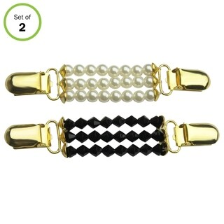 Evelots 3 Strand Sweater Clip, Set of 2