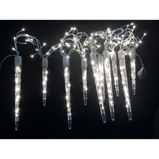 Celebrations Euro LED Micro cluster with icicle-style reflectors Light Set Cool White 9 ft. 240 lights