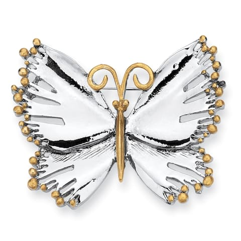 Silver Tone Butterfly Pin
