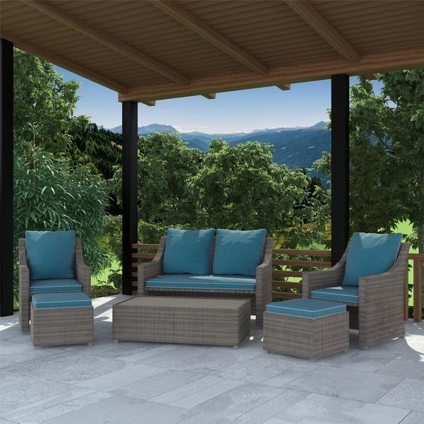 Shop COSCO Outdoor Living Oak Bluffs 6 Piece Patio Outdoor ... on Outdoor Living Sale id=33466