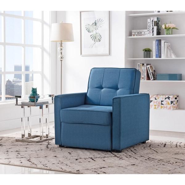 Shop Chandler Ocean Convertible Arm Chair Bed Free