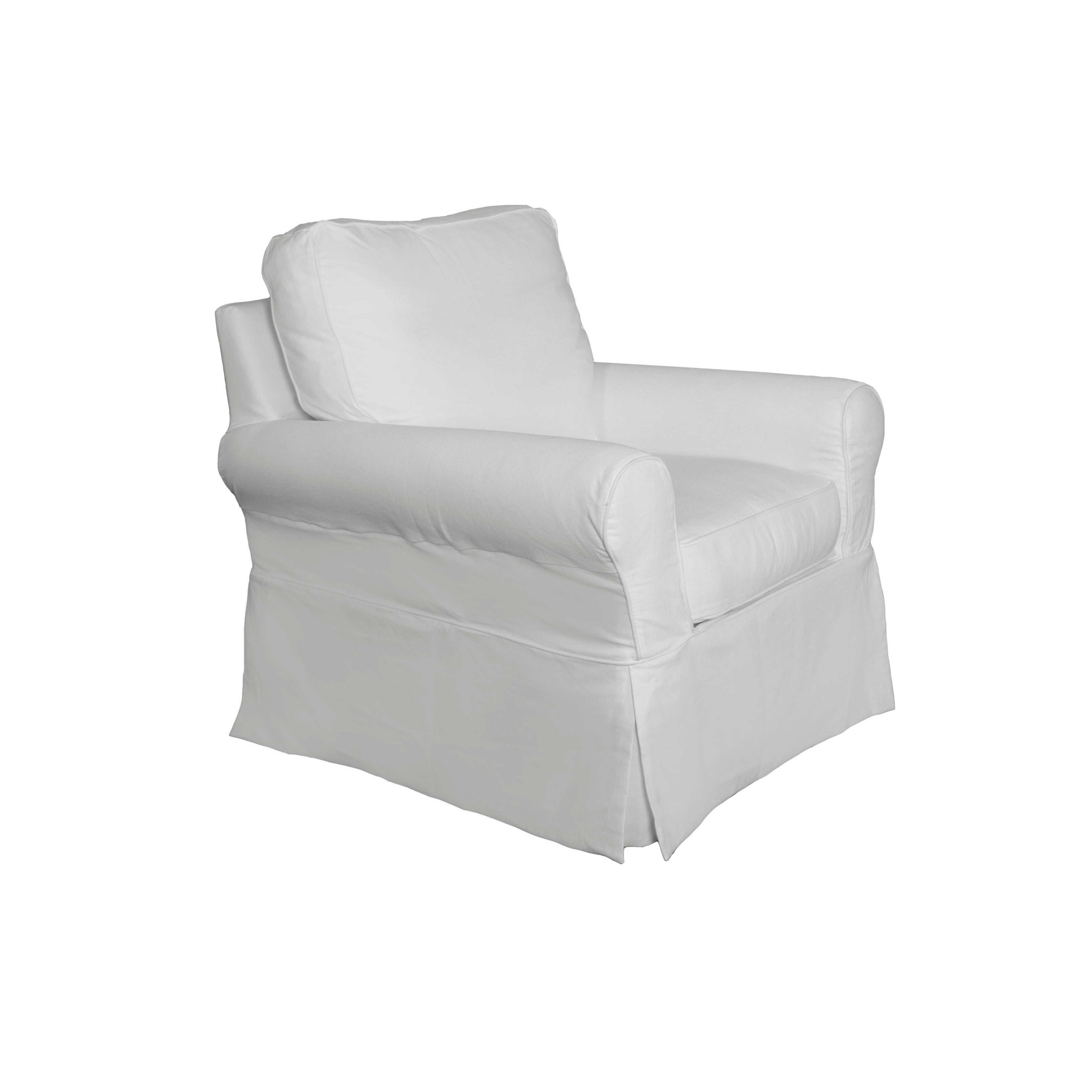 Marvelous Sunset Trading Horizon Box Cushion Chair And Ottoman Slipcover Set Performance White Covers Only Lamtechconsult Wood Chair Design Ideas Lamtechconsultcom