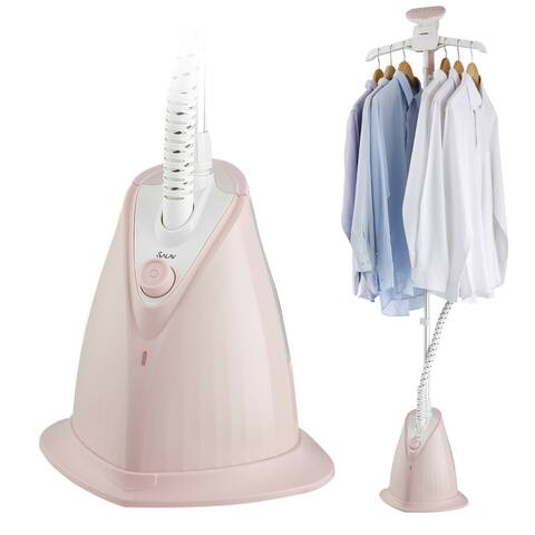 SALAV XL-08 Garment Steamer w/ XL Water Tank and Woven Hose, Pink