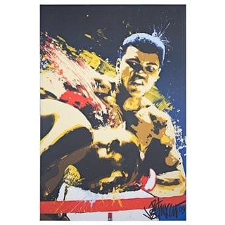American Art Decor Licensed Muhammad Ali Pop Art Wrapped Canvas Art - multi-color