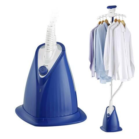 SALAV XL-08 Garment Steamer w/ XL Water Tank and Woven Hose, Blue
