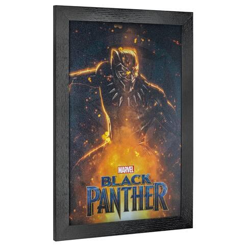 American Art Decor Licensed Marvel Comics Black Panther Framed Art - Multi-color