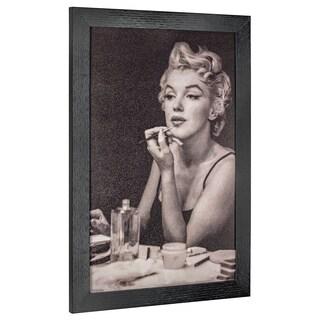 American Art Decor Vintage Marilyn Monroe Framed Wall Art - Black