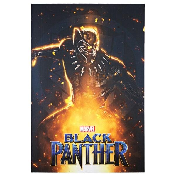 American Art Decor Licensed Marvel Comics Black Panther Canvas Art Multi Color