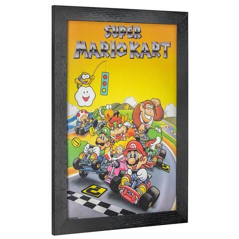 American Art Decor Licensed Nintendo Super Mario Framed Poster Art - Multi-color